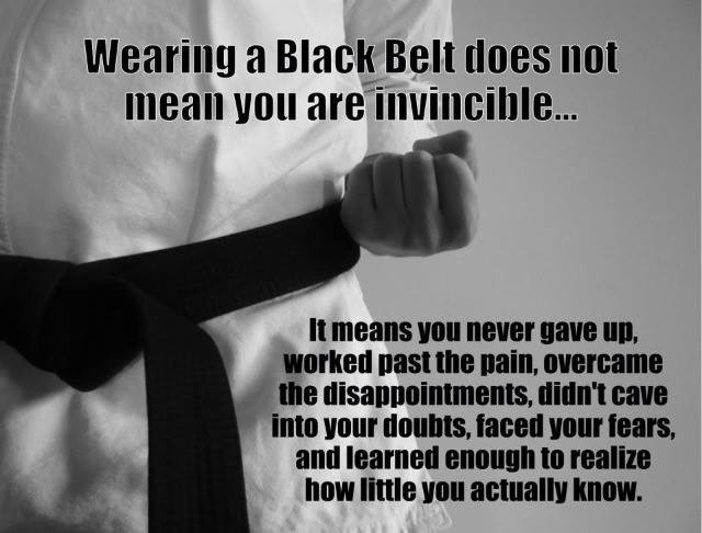 black belt is